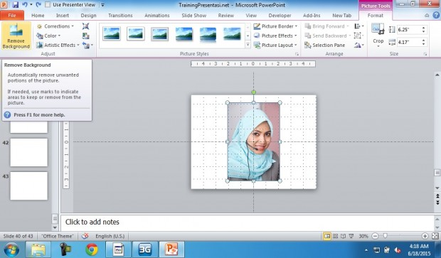 Menghapus Background Presentasi Powerpoint dengan Remove Background