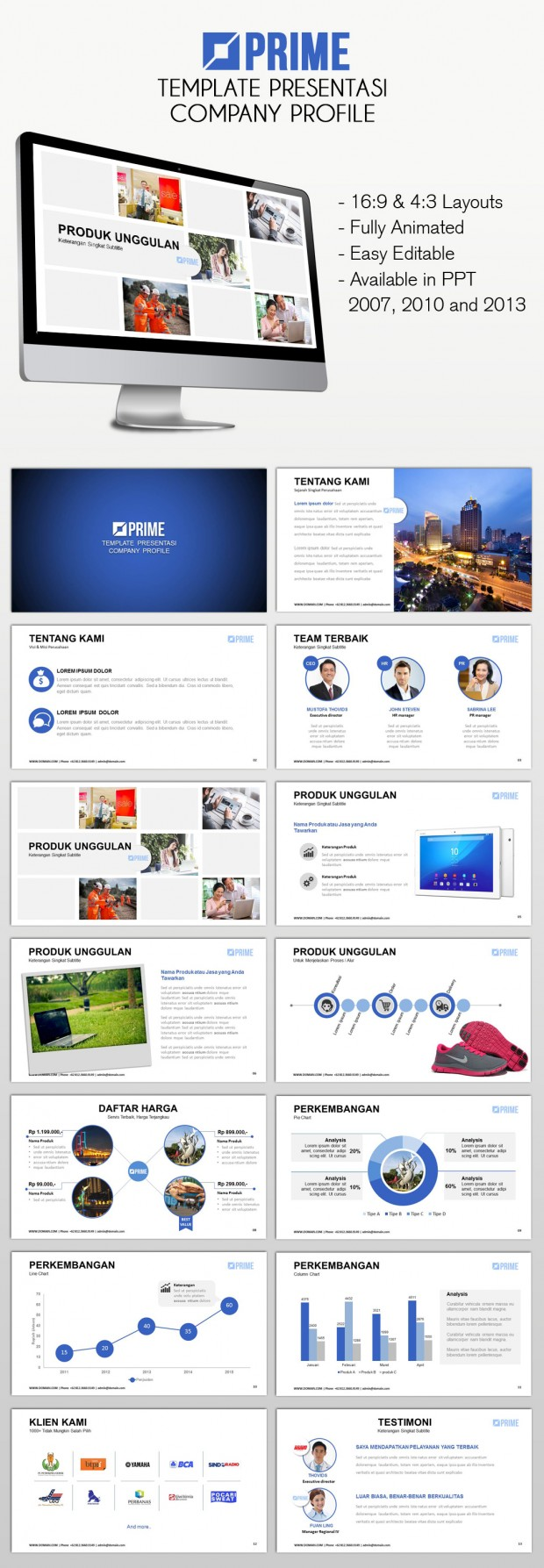 Template Powerpoint Presentasi Company Profile